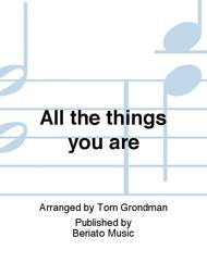All the things you are