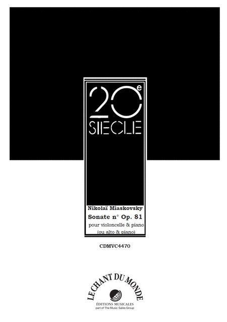 Sonate No. 2, Op. 81 Pour Violoncelle