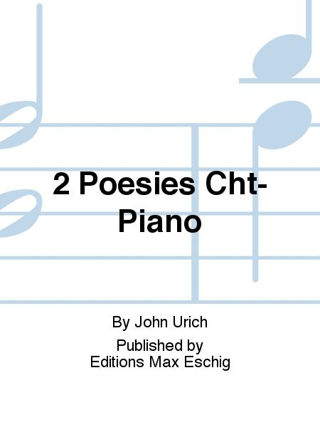 2 Poesies Cht-Piano