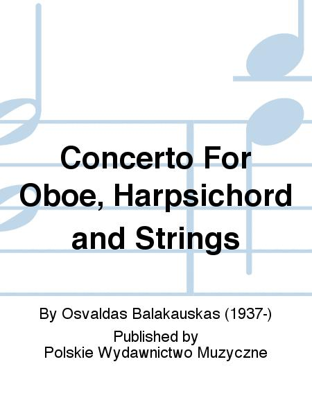 Concerto For Oboe, Harpsichord and Strings
