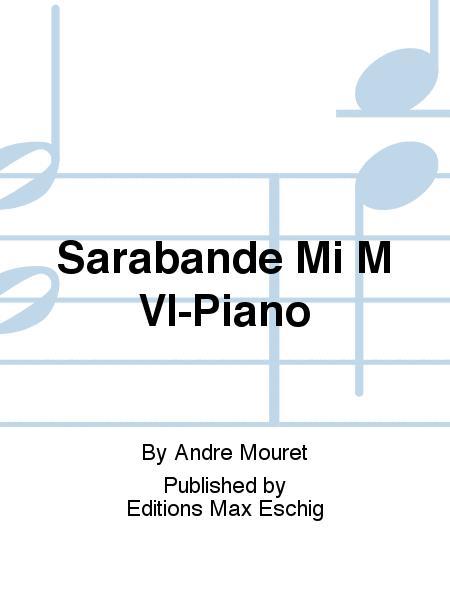 Sarabande Mi M Vl-Piano