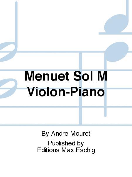 Menuet Sol M Violon-Piano