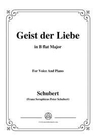 Schubert-Geist der Liebe,in B flat Major,for Voice and Piano