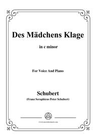 Schubert-Des Mädchens Klage,in c minor,Op.8,No.3,for Voice and Piano