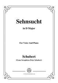 Schubert-Sehnsucht,in D Major,Op.8,No.2,for Voice and Piano