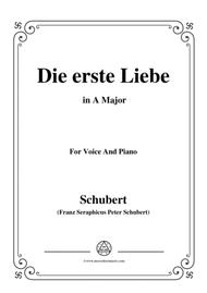 Schubert-Die Erste Liebe,in A Major,for Voice and Piano