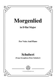 Schubert-Morgenlied,in D flat Major,for Voice and Piano