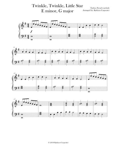 Twinkle, Twinkle Little Star (Early Intermediate Piano, Minor & Major)