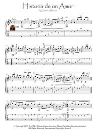 Historia De Un Amor Love Story guitar solo fingerstyle