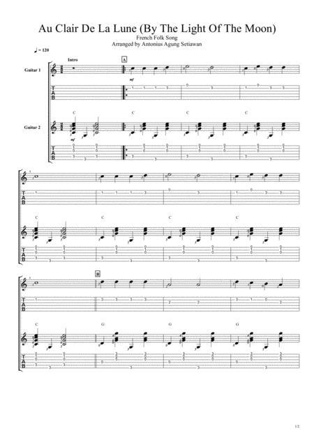 Au Clair De La Lune (Fingerstyle Guitar Duet)