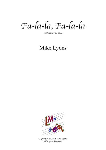 Clarinet Trio - Fa-la-la, Fa-la-la (A clarinets)