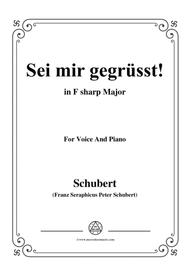 Schubert-Sei mir gegrüsst!,Op.20 No.1,in F sharp Major,for Voice&Piano