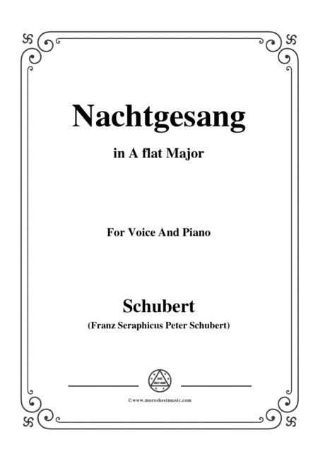 Schubert-Nachtgesang,in A flat Major,for Voice&Piano