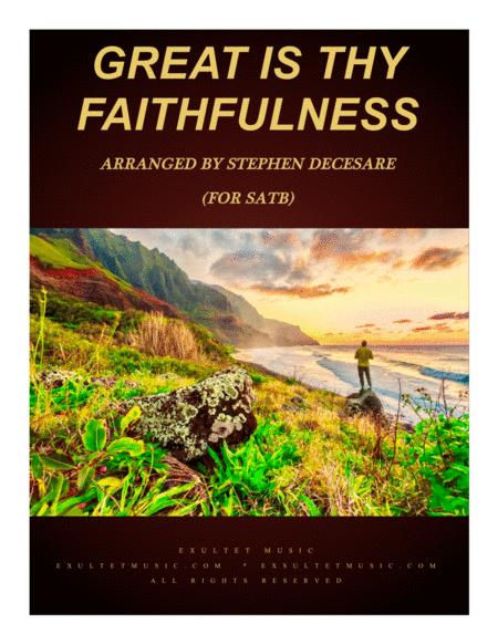 Great Is Thy Faithfulness (for SATB)