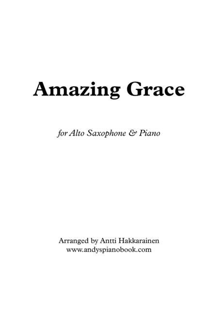 Amazing Grace - Alto Saxophone & Piano