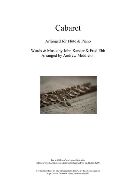Cabaret arranged for Flute & Piano