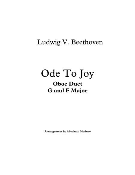 Beethoven`s Ode to Joy Oboe Duet-Two Tonalities Included