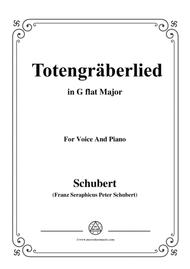 Schubert-Totengräberlied(Gravedigger's Song),D.44,in G flat Major,for Voice&Piano
