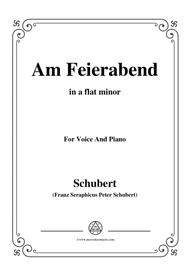Schubert-Am Feierabend,from 'Die Schöne Müllerin',Op.25 No.5,in a flat minor,for VoiceΠano