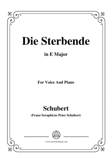 Schubert-Die Sterbende,in E Major,for Voice&Piano