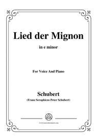 Schubert-Lied der Mignon,from 'Wilhelm Meister',Op.62(D.877) No.2,in e minor,for Voice&Piano