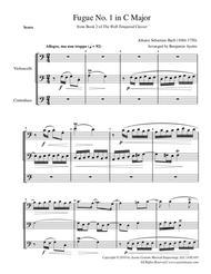 Fugue No. 1 in C Major (WTC Book 2) for String Trio (2 cellos and contrabass)