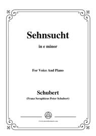 Schubert-Sehnsucht,in e minor,Op.105 No.4,for Voice and Piano