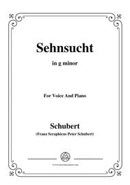 Schubert-Sehnsucht,in g minor,Op.105 No.4,for Voice and Piano
