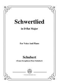 Schubert-Schwertlied,in D flat Major,D.170,for Voice and Piano