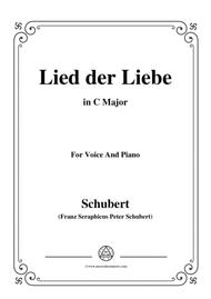 Schubert-Lied der Liebe,in C Major,for Voice and Piano