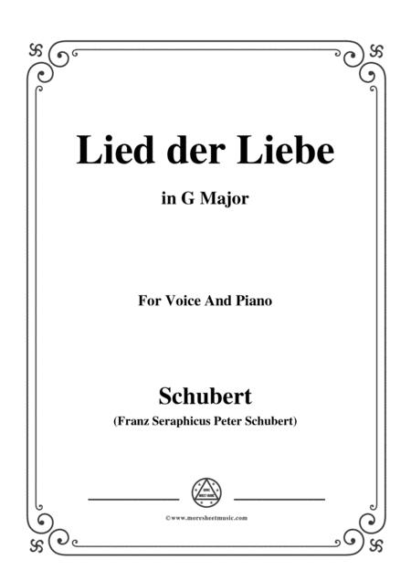 Schubert-Lied der Liebe,in G Major,for Voice and Piano