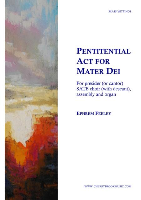 Penitential Act for Mater Dei