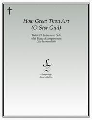 How Great Thou Art (treble Eb instrument solo)