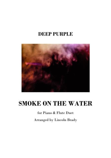 SMOKE ON THE WATER - Piano & Flute (or any C treble instrument)