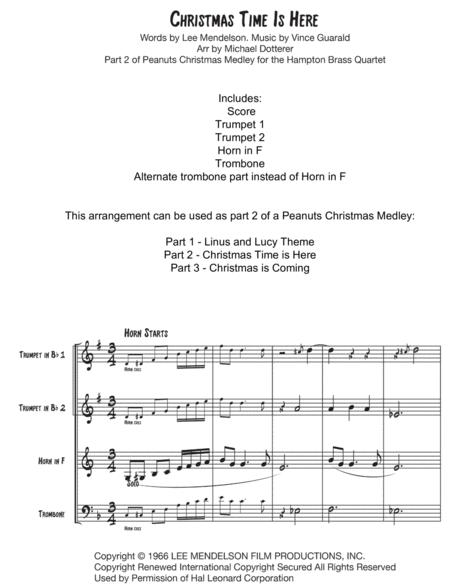 Christmas Time Is Here for Brass Quartet