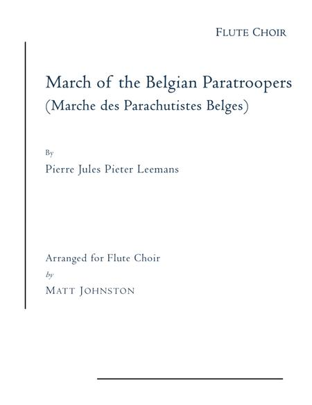 March of the Belgian Paratroopers for Flute Choir