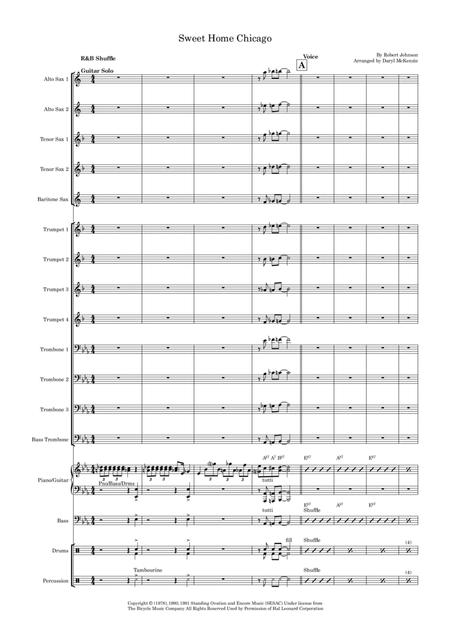 Sweet Home Chicago- Vocal with Big Band - Key of Eb