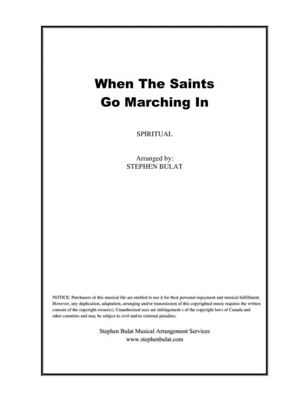 When The Saints Go Marching In (Louis Armstrong) - Lead sheet (key of F)