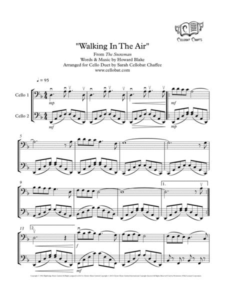 Walking In The Air (The Snowman) - Cello Duet - Howard Blake arr. Cellobat - Recording Available!