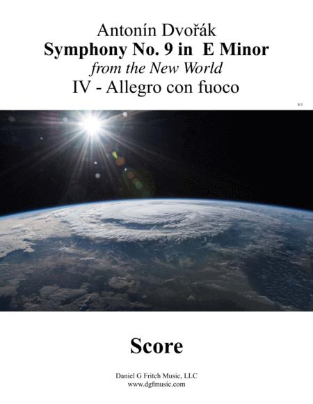 Dvorak New World Symphony No 9 Movement IV with Transposed Instruments and Full Score - Allegro con fuco