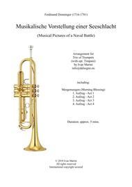 Musikalische Vorstellung einer Seeschlacht (Musical Pictures of a Naval Battle) - F. Donninger - Trumpet Trio + opt. Timpani