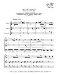 bad romance - string trio (2 violins & cello) - lady gaga arr. cellobat  by lady gaga, - digital sheet music for score,set of parts - download &  print h0.483183-207388   sheet music plus  sheet music plus