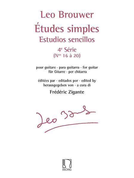 Etudes simples - Estudios sencillos (Serie 4)