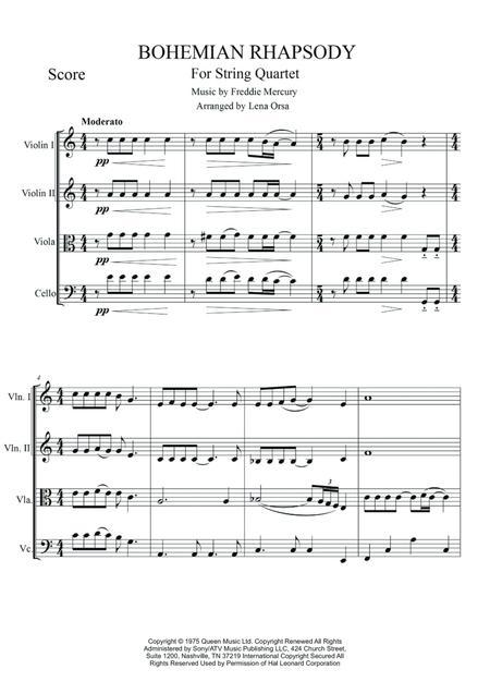 QUEEN Bohemian Rhapsody String Quartet