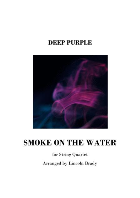 SMOKE ON THE WATER - String Quartet (Score Only)