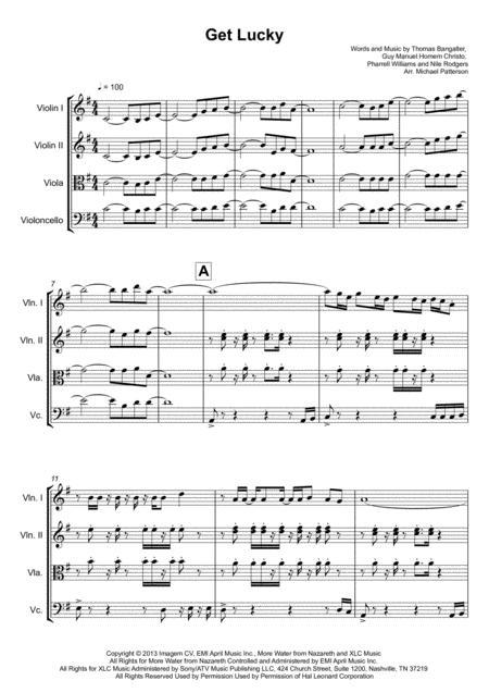 Get Lucky - String Quartet -