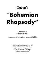Bohemian Rhapsody for Saxophone Quartet