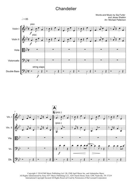 Chandelier - String Orchestra