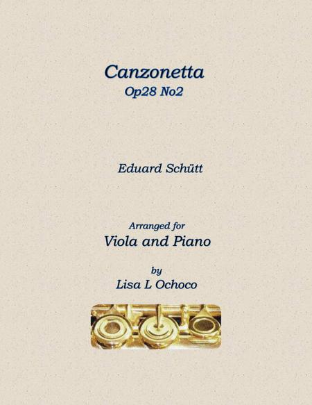 Canzonetta Op28 No2 for Viola and Piano