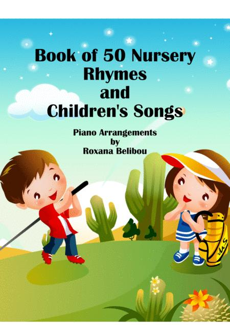 50 Nursery Rhymes and Children Songs Sheet Collection Easy Piano